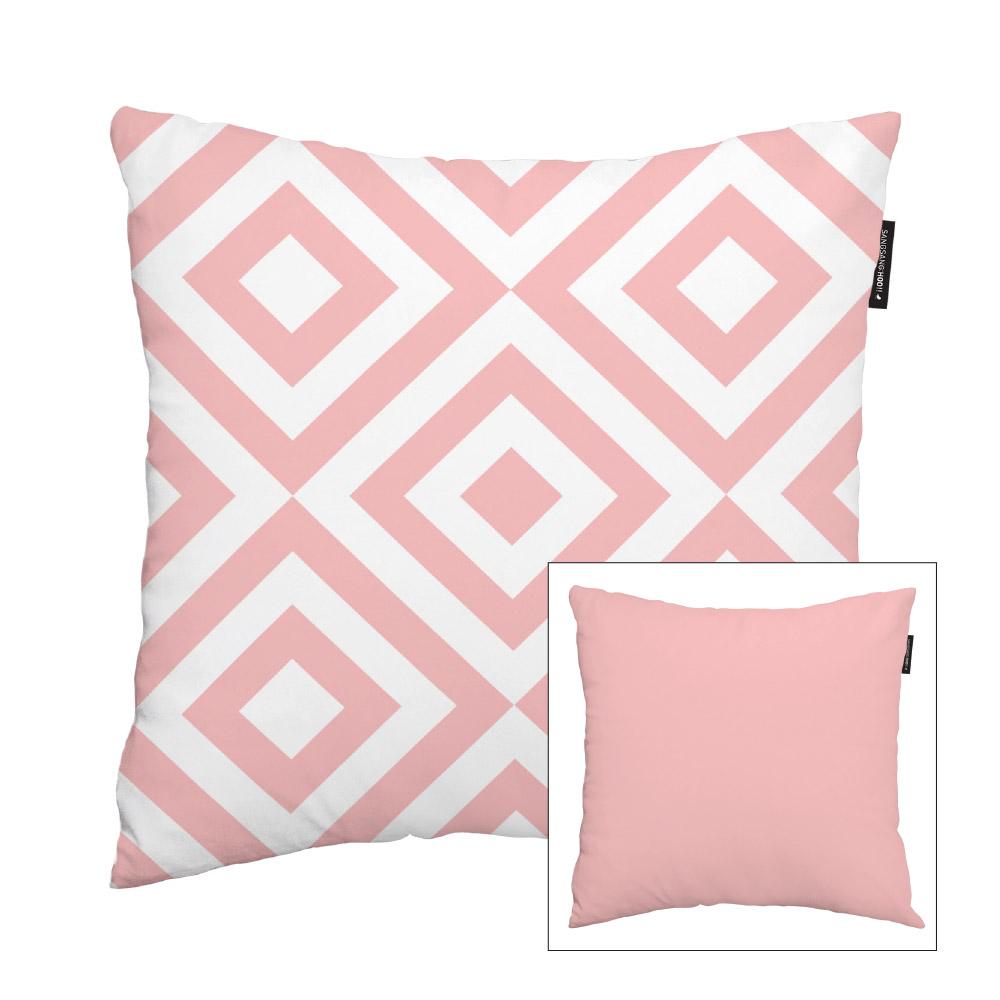 [쿠션커버] 핑크 러블리스퀘어 45x45cm