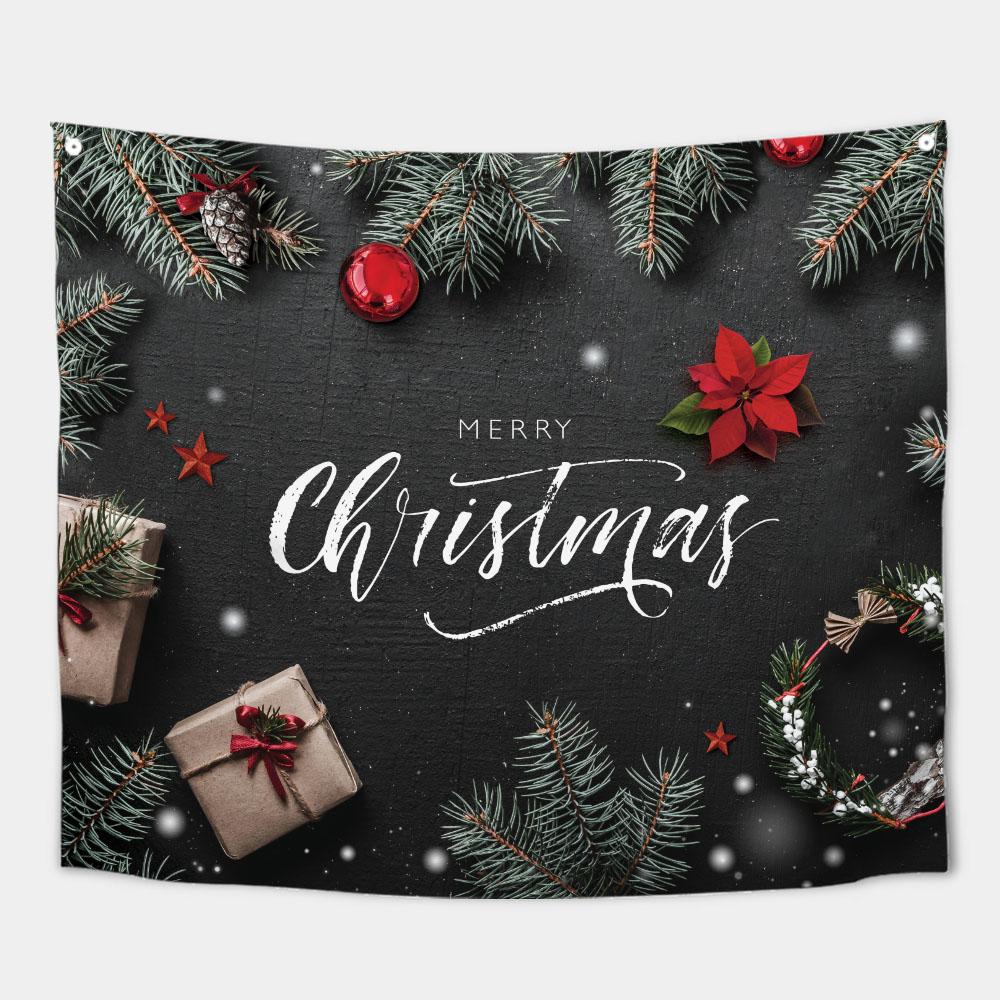 가리개 바란스 커튼 150x130cm 로맨틱 크리스마스