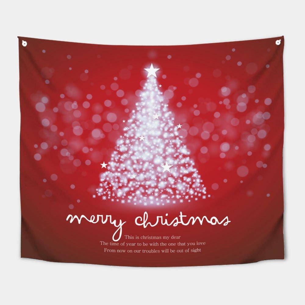 가리개 바란스 커튼 150x130cm 샤이닝 크리스마스