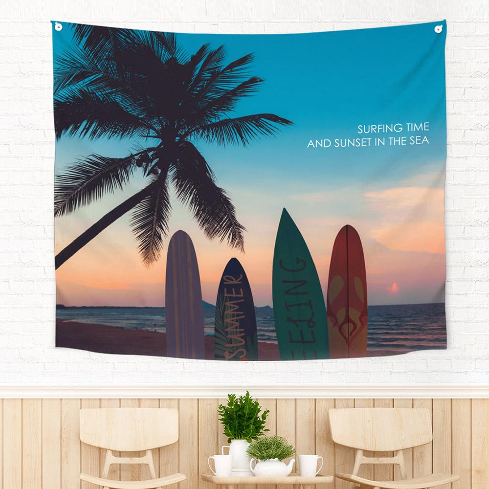 [패브릭포스터] 150x130cm 서핑인썬셋