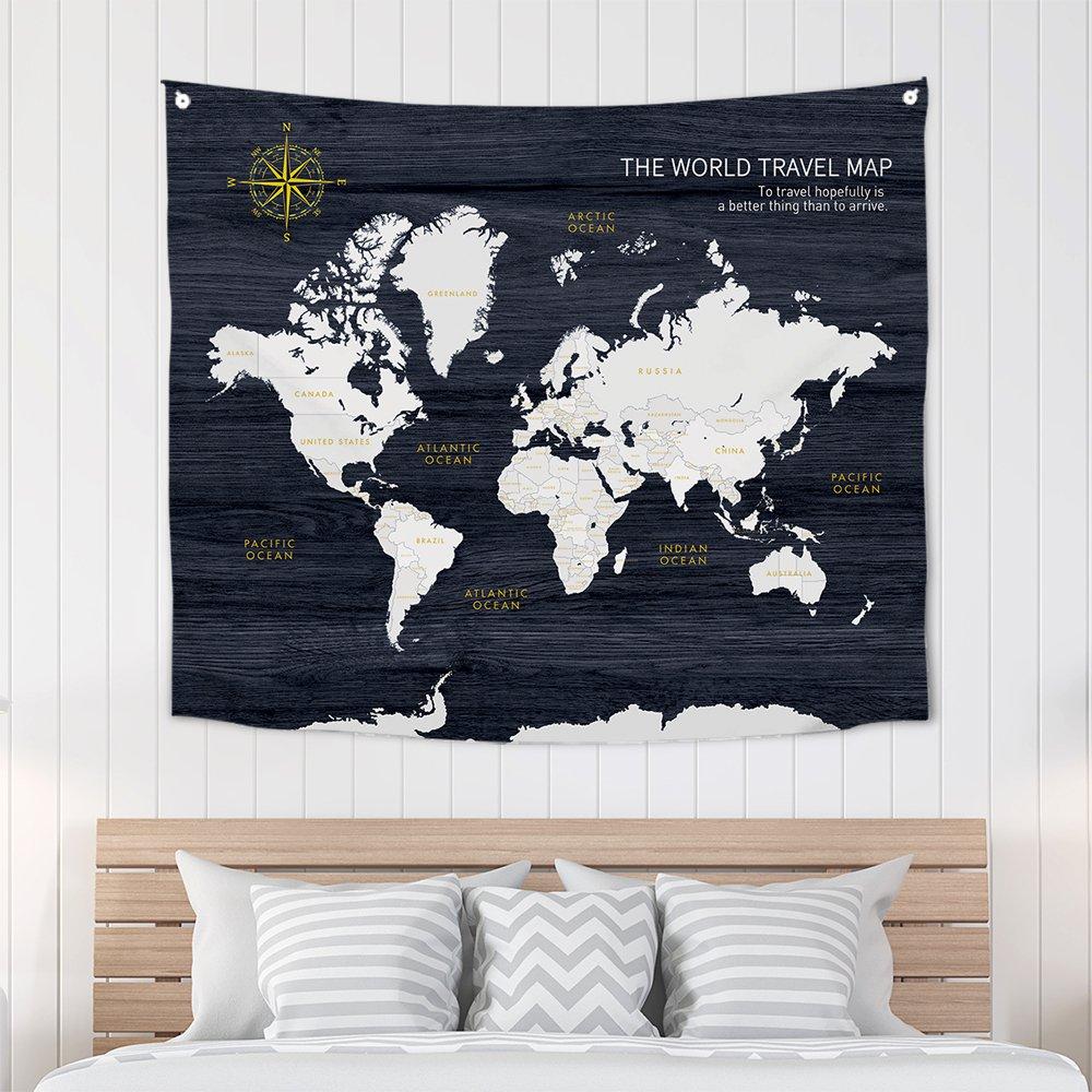 [패브릭포스터] 세계지도네이비 150x130cm