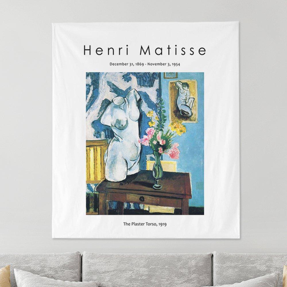[패브릭포스터]마티스 토르소와 꽃다발 150x130cm