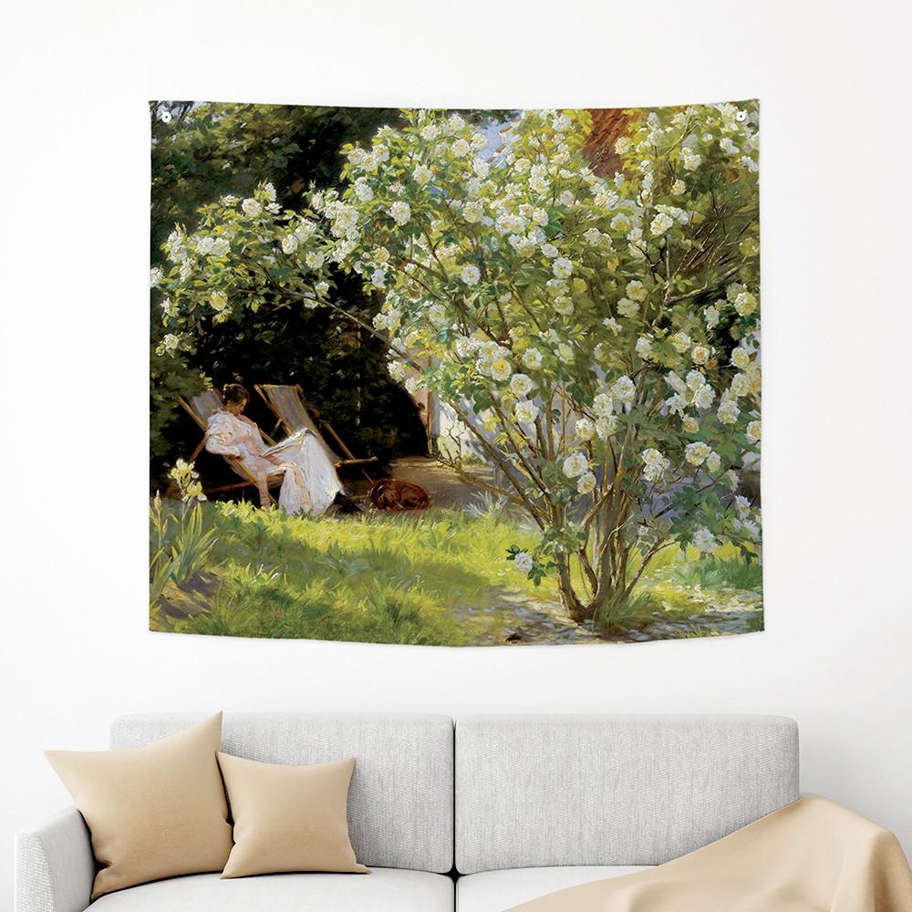 [패브릭포스터]크뢰위에르 장미정원 150x130cm