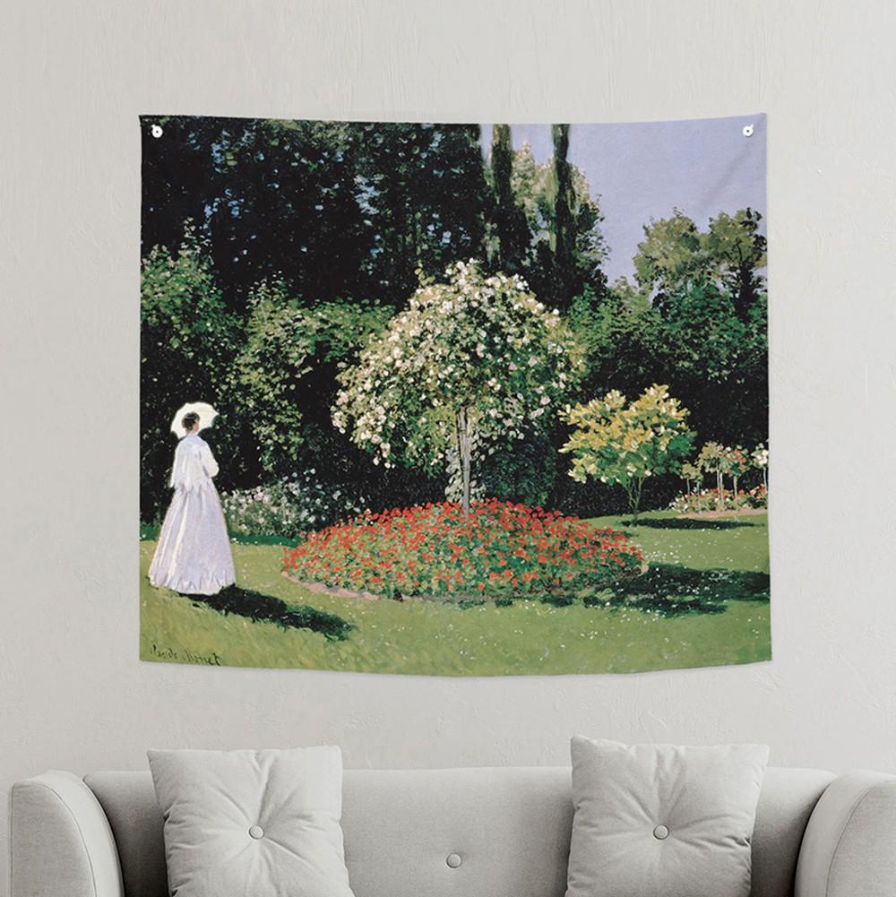 [패브릭포스터]모네 정원안에 있는여자 150x130cm
