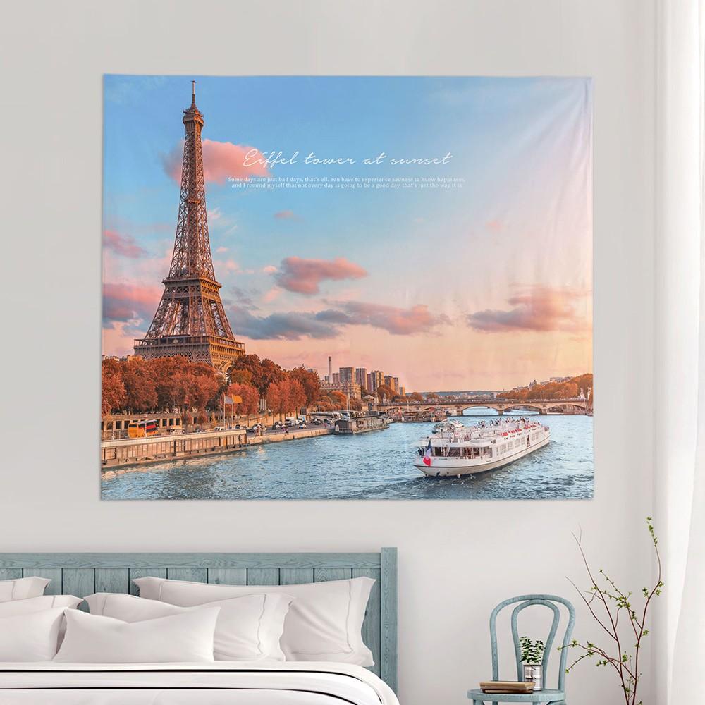 [패브릭포스터] 에펠타워썬셋 150x130cm