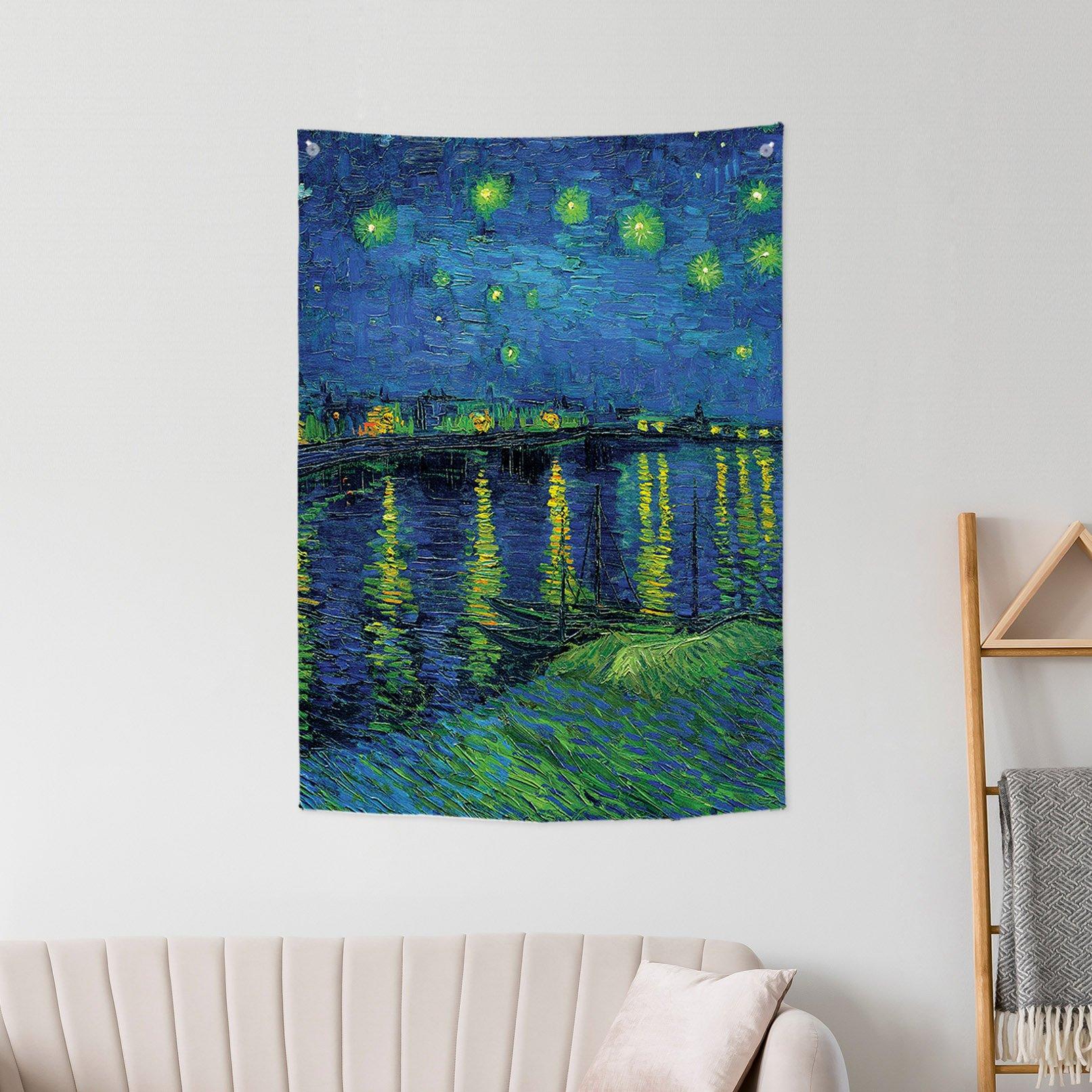 [패브릭포스터]고흐 론강의 별 밤 85x120cm