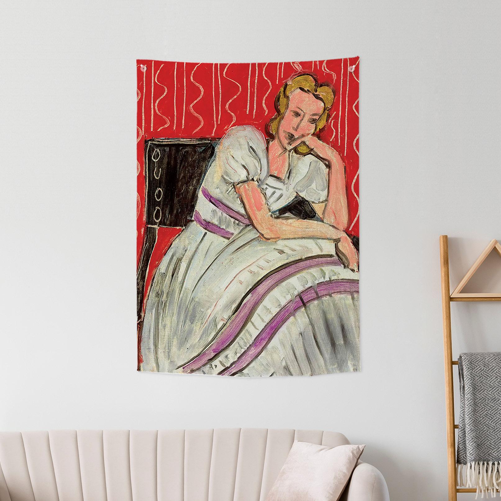 [패브릭포스터]마티스 회색드레스를 입은 젊은여자 85x120cm