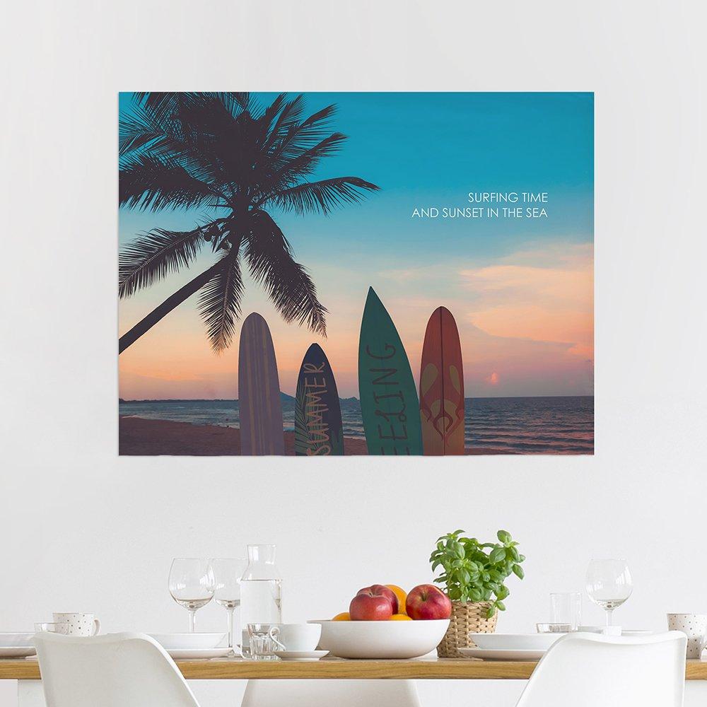 [패브릭포스터] 서핑인선셋 90x73cm