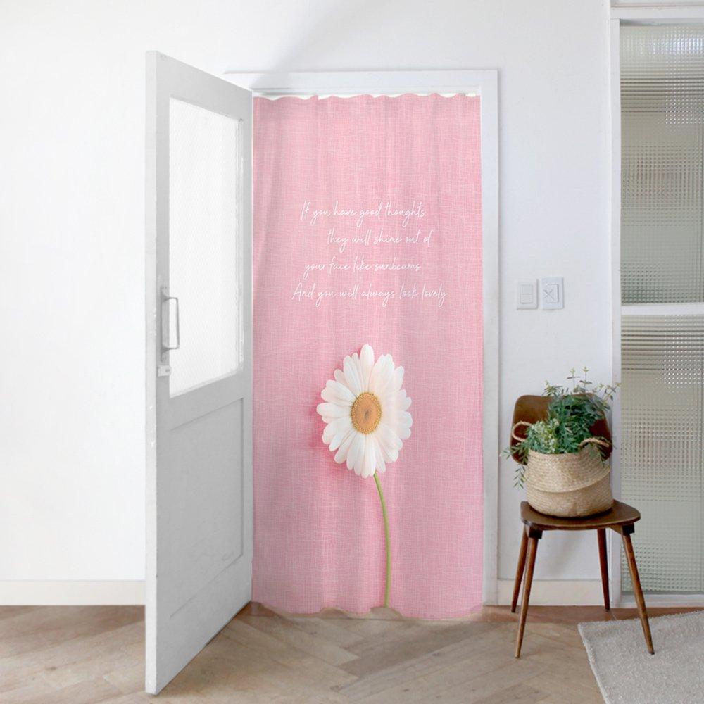 [커튼/도어커튼] 핑크데이지 140x200cm