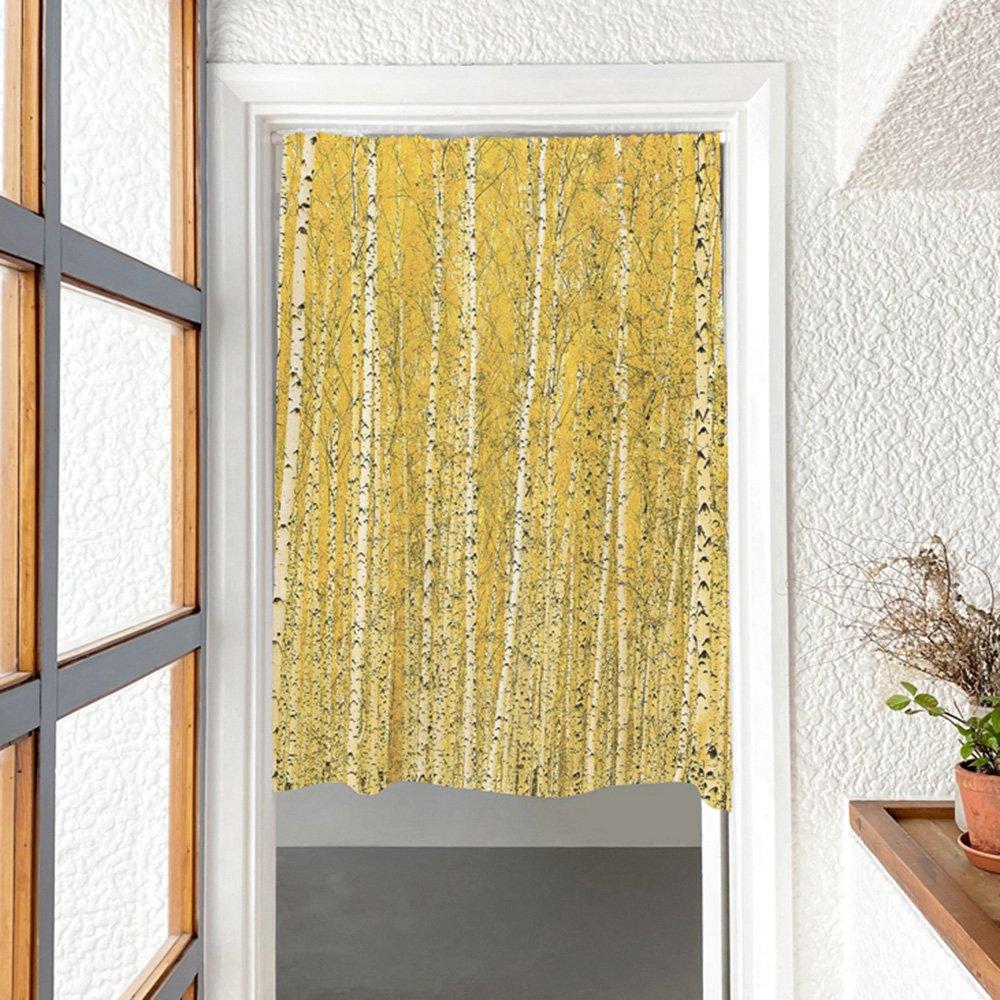 [커튼/도어커튼] 황금자작나무숲 115x120cm