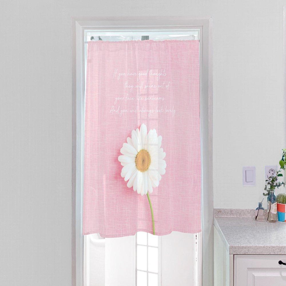 [커튼/도어커튼] 핑크데이지 115x120cm